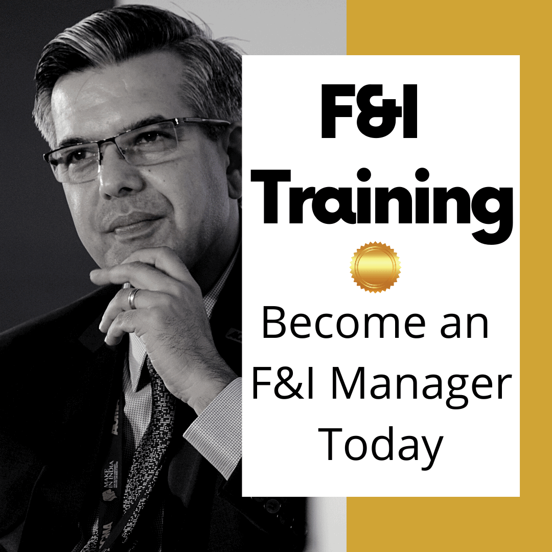 Become an F&I manager F&I Training
